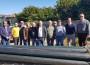Visita a las obras de la segunda fase de conducciones de agua de riego del terciario