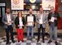 El pregonero de la Feria del Libro de Motril (centro) con el teniente de alcalde Francisco Sánchez Cantalejo, y los concejales Mercedes Sánchez y Francisco Ruiz