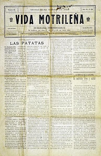 """El semanario local """"Vida Motrileña"""""""