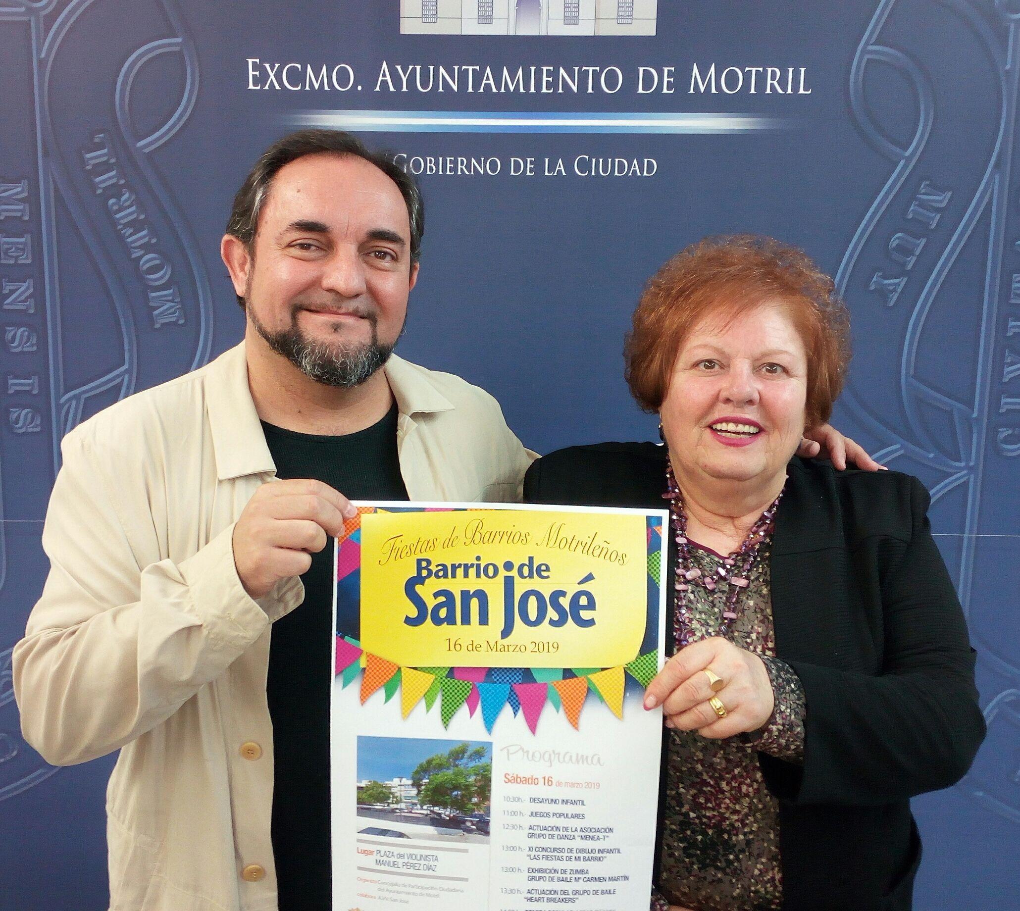 MIGUEL ÁNGEL MUÑOZ Y ADELA GUERRERO, EN LA PRESENTACIÓN DE LA FIESTAS DE SAN JOSÉ