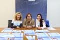 La concejala de Educación de Motril, Mercedes Sánchez (centro), en la presentación de La Mar de Libros