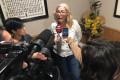 MARÍA ÁNGELES ESCÁMEZ, TENIENTE DE ALCALDE DE PERSONAL, EN SU ENCUENTRO CON LA PRENSA EN LA TARDE DE ESTE MIÉRCOLES