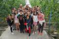 Escolares del colegio Nuestra Señora del Pilar en su visita a la finca experimental de La Palma