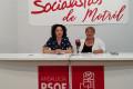 Susana Feixas y Leticia de la Torre durante la presentación de las propuestas del PSOE