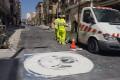 Pintado señaléctica horizontal en la calle Ancha