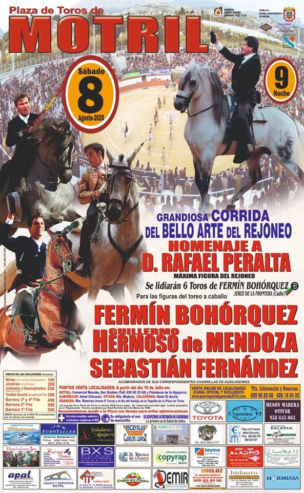 Corrida de rejones el 8 de agosto en la Plaza de Toros de Motril ...